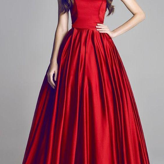 Gorgeous Satin Sweetheart A-Line Prom Dresses With Pleats, Long Prom Dress, Graduation Dress