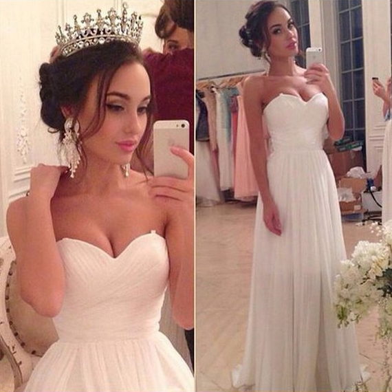 Fashion Wedding Dresses, Wedding Dresses2016, Wedding Dresses, Floor-Length Wedding Dresses, Sleeveless Wedding Dresses, White Wedding Dresses, Sexy Wedding Dresses, Custom Wedding Dresses