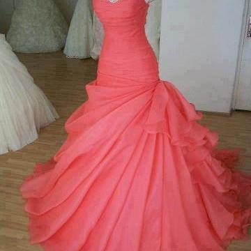 2017 Custom Charming Hot Pink Prom Dress,Sexy Sweetheart Evening Dress,Beading Prom Dress,cheap Sexy Backless Prom Dresses,Beading Evening Dress, Prom Dress, formal dresses,Wedding guests dresses
