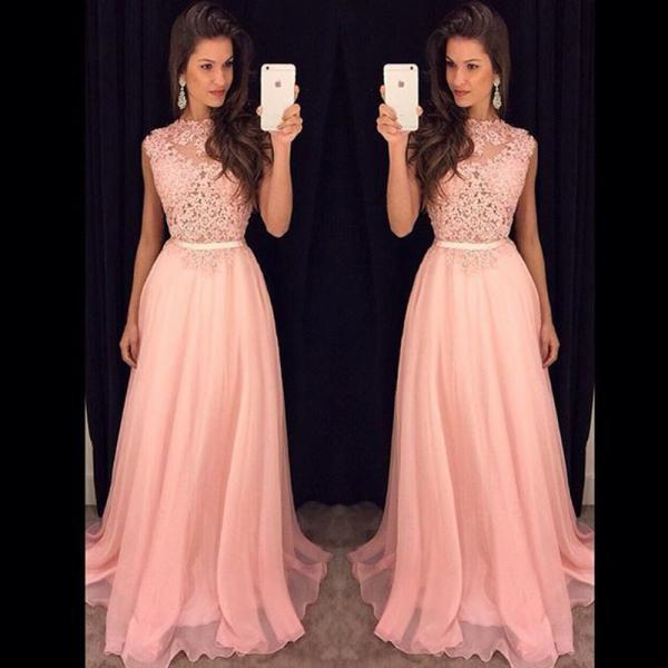 Lace Top Pink formal Dress, Long Evening Dress Party Elegant formal Dresses, Sexy Backless Prom Dress , prom Gowns Plus Size, Cocktail Dresses, formal dresses,Wedding guests dresses