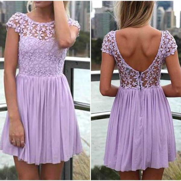 Cute Purple Lace And Flora..