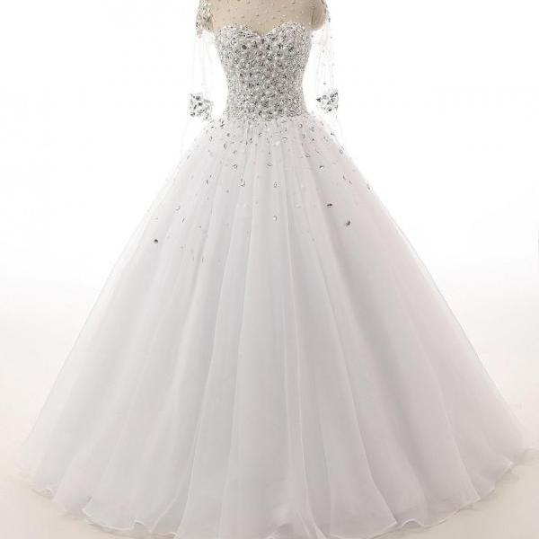 Wedding Dress, Tulle Wedding Dress,Luxury beads Wedding dresses,Bridal Dresses,Wedding Guest Prom Gowns, Formal Occasion Dresses,Formal Dress
