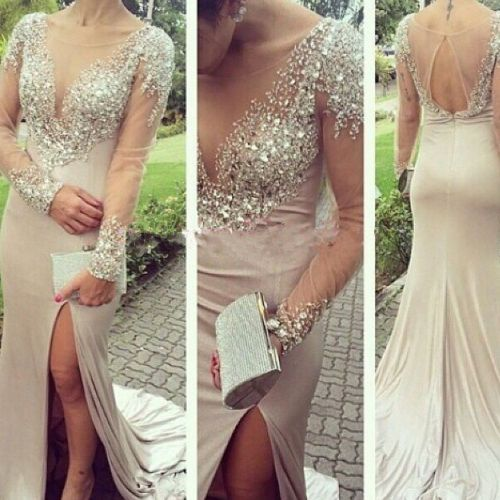 High Quality Prom Dress,Long-Sleeves Prom Dress,Mermaid Prom Dress,Beading Prom Dress,O-Neck Evening Dress,Floor-Length Prom Dress,Wedding Guest Prom Gowns, Formal Occasion Dresses,Formal Dress