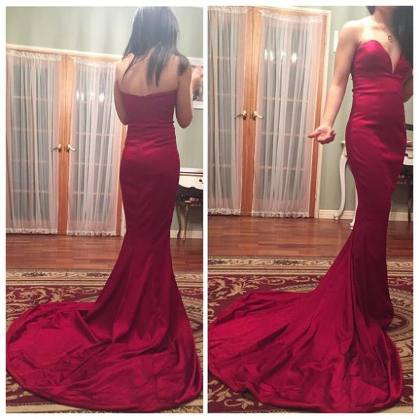 Prom Dress,Sexy Evening Dress,Backless Mermaid Evening Gowns,Long Prom Dresses,Formal Gown,Floor-length Prom Dresses,Wedding Guest Prom Gowns, Formal Occasion Dresses,Formal Dress